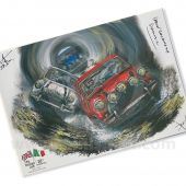 Limited Edition Paddy Hopkirk print by ArtbyBex