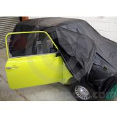 COV12 Dustproof indoor cover finished in black silky material, to suit all Classic Mini Saloon models 1959 to 2001