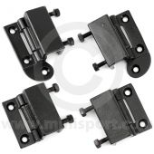 CZH202KIT Set of 4 internal type door hinges for Mini models 1969 on, for both doors with wind up type windows.
