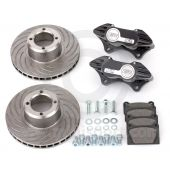 "Cooper 7.9"" Vented 4 pot Alloy Caliper Brake Conversion Road Kit - Black"