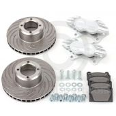 "Cooper 7.9"" Vented 4 pot Alloy Caliper Brake Conversion Road Kit - Silver"