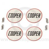 Cooper Wheel Badges with slotted fitting screws
