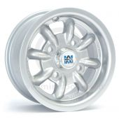"5"" x 12"" silver original Minilite alloy wheel and Yokohama A539 tyre package"