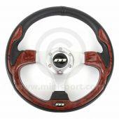 Mountney Sport Mini Steering Wheel - Burr Walnut Inset