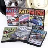 "Ultimate Mini DVD collection Ultimate Mini ""Engine Swap"", Ultimate Mini ""Performance"", Ultimate Mini ""Madness"", Ultimate Mini ""Mayhem"", Ultimate Mini ""extreme"", 50 Years of Classic Mini - ""LIMITED EDITION"""