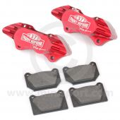 "Paddy Hopkirk 8.4"" Std 4 pot Alloy Calipers and Pads"