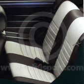 Rear Seat Cover - Leather Faced - Horizontal Flute - Mini 96-00