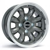 """5.5"""" x 12"""" anthracite/polished rim Ultralite alloy wheel and Yokohama A539 tyre package"""