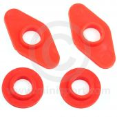 SPDSP668A Mini front subframe poly top washer & bush kit red  1