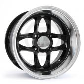 7 x 13 Mamba Wheel - Black/Polished rim