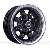 5 x 10 Minilight Wheel - Black/Polished Rim