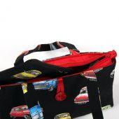 Cotton Black Zip Up Handbag and purse combo with Classic Mini design