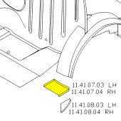 LH Rear Wheel Arch Closing Panel - Mini Saloon