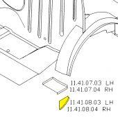 LH Closing Panel Filler Segment - Mini Saloon