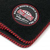 Paddy Hopkirk Mini Super Luxury Floor Mat Set - Black/Red