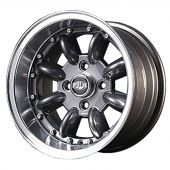 7 x 13 Superlight Split Rim Wheel - Gunmetal/Polished Rim