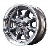5 x 12 Superlight Wheel - Gunmetal/Polished Rim