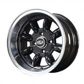 7 x 13 Superlight Wheel - Black/Polished Rim