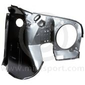ABD36005 Genuine LH inner wing for Mini models including 1.3 SPi 1990 to 1996, complete with A panel (ALA5661) and A post stiffener panel (ALA6473).