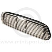 DHB10150 Mini 11 slat grille with external bonnet release slot, finished in stainless steel will fit to all models 1967on