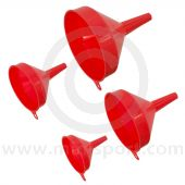 F94 - Sealey 4piece Economy Fixed Spout Funnel Set
