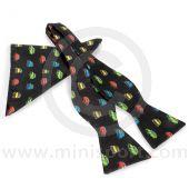 Self-Tie Bow Tie and Pocket Square Combo in Classic Mini Design
