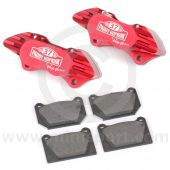 """Paddy Hopkirk 8.4"""" Std 4 pot Alloy Calipers and Pads"""
