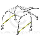 SAFRB00A1 Door Bar diagram for Mini 6 point roll cage