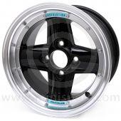 REVRVA908H41367BHRR Mini Revolution Black 7'' x 13'' 4 Spoke Deep Dish Split Style Alloy Wheel