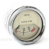 SMIBV2220-04C Smiths Classic voltmeter, 52mm gauge with magnolia face and chrome bezel.