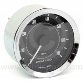 Smiths Tacho - 7000 rpm - Black with Chrome ring