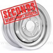"""Cooper S 4.5"""" x 10"""" Steel Wheel - Silver Clearance Seconds"""