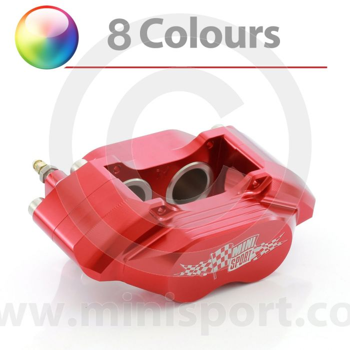RED Mini Sport 7.9'' Alloy 4 pot calipers to suit vented type brake discs (NAM6450G7.9)