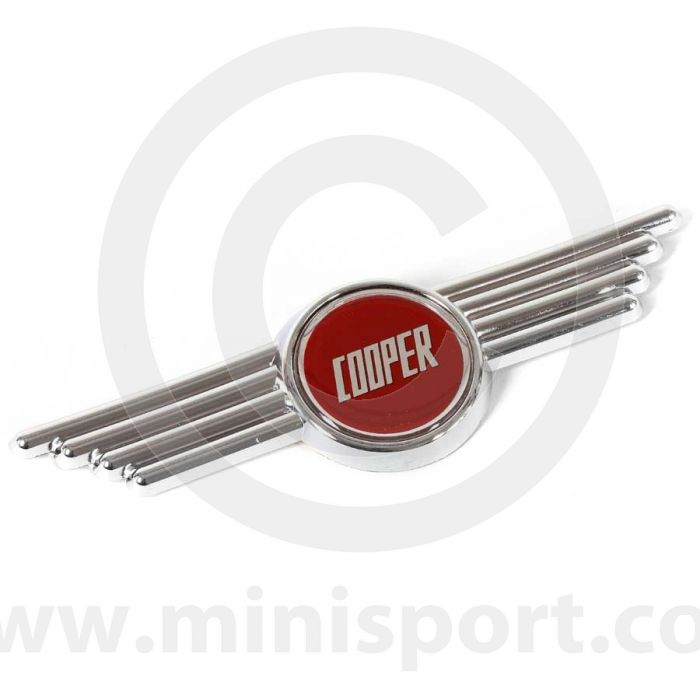 MCPXS.WCB-R Mini Cooper Winged Badge Red