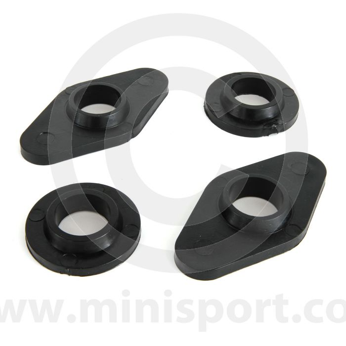 SPDSP668BLK Mini front subframe poly top washer & bush kit black