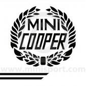 John Cooper Styling Kit - Laurels & Side Stripes - Black