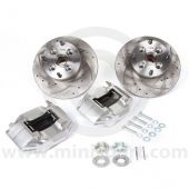 "MCPBRK.8.4S-S 8.4"" Mini Cooper Brake Kit with Silver Alloy Calipers"