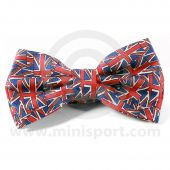 Silk Bow Tie - Pre-Tied with Union Jack design