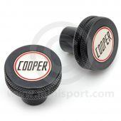 Cooper Knurled & Badged Seat Tilt Knobs - Black