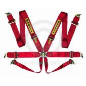 "Sabelt Saloon Series 6 Point Harness - 3"" Waist Webbing - Red"