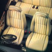 Front Seat Covers - Pair - Leather Faced - Vertical Flute - Mini 96-00