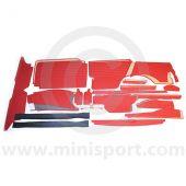 NCMTK3075_MASInterior Panel Kit - 32 Piece - Oval Speedo - Mini Traveller 62-70
