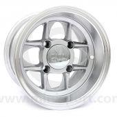 6 x 10 Mamba Wheel - Silver/Polished rim