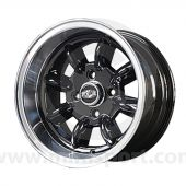 7 x 13 Superlight Split Rim Wheel - Black/Polished Rim