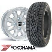 "5"" x 12"" silver Ultralite alloy wheel and Yokohama A539 tyre package"