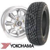 "5"" x 12"" silver/polished rim Ultralite alloy wheel and Yokohama A539 tyre package"