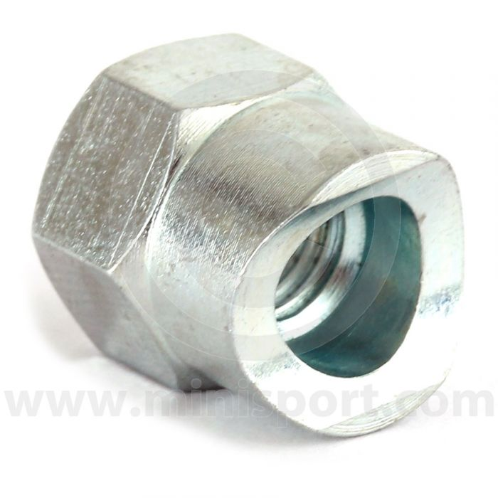 2A5858 Mini handbrake adjusting nut, fits at the lever end of the cable.