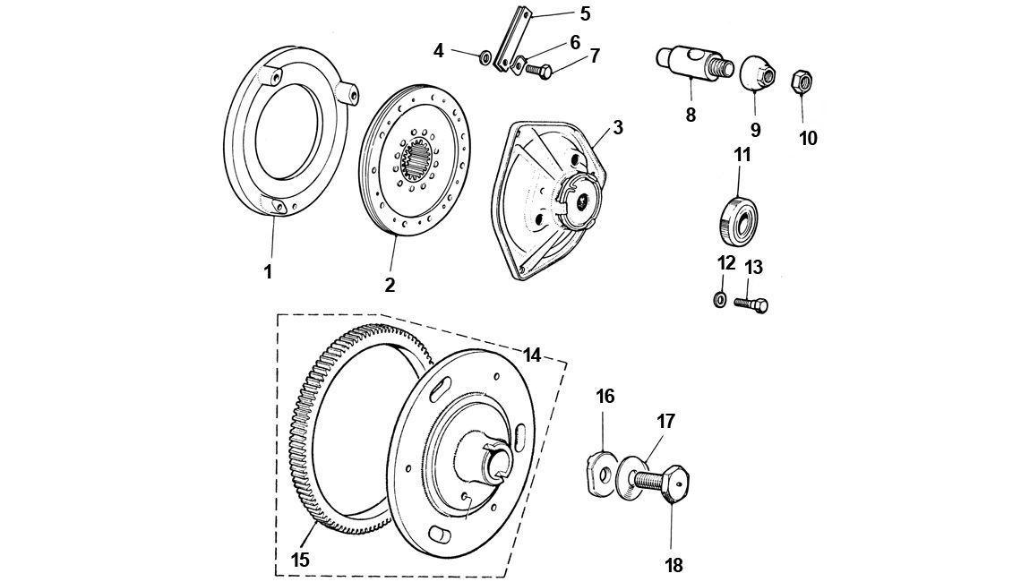 Rover Austin Classic Mini Engine Clutch // Flywheel Cover Bolt Set A Series