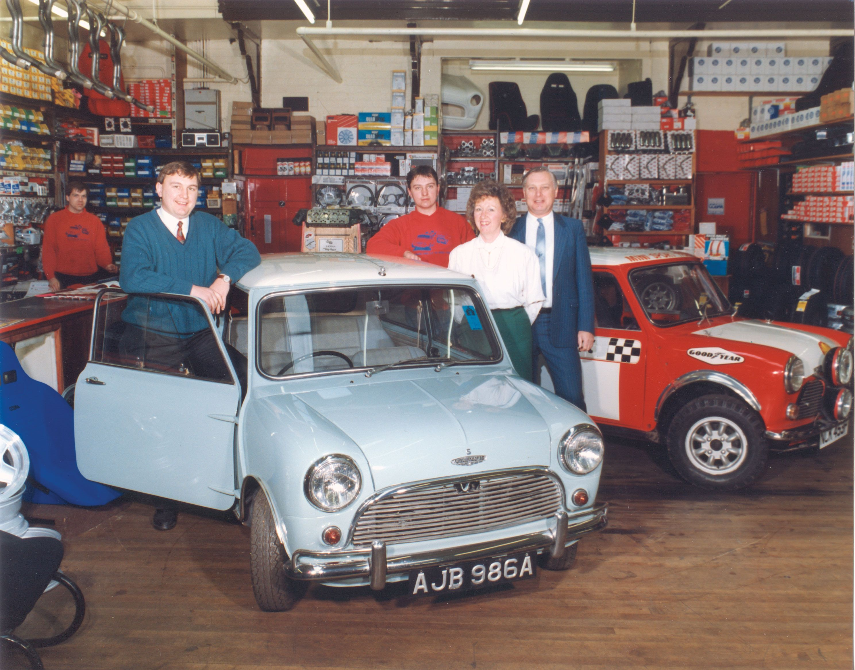 The Mini Sport Showroom back in 1994!